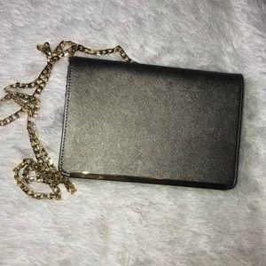 Silver Metallic Clutch purse
